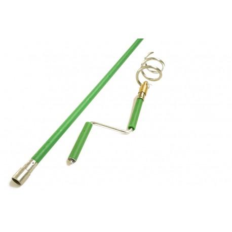 Tyč plast zelená - Ø 18 mm/1400 mm