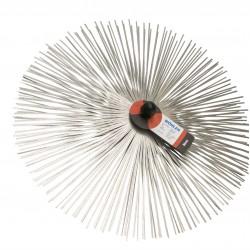 Štosákový kartáč, nerezový plochý drát, závit M12 pro kominický set