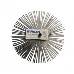 Štosákový kartáč, plochý drát, závit M12 pro kominický set