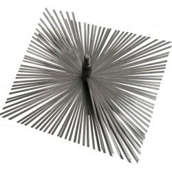 Štosákový kartáč ø 150 mm, plochý drát, závit M12 pro kominický set