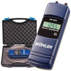 Digitální manometr (měření tahu komína) DM 2000 v mbar- sada