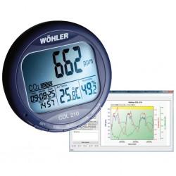 Záznamník měření CO2 oxidu uhličitého, teploty a vlhkosti vzduchu CDL 210