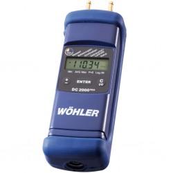 Digitální manometr (měření tahu komína) DC 2000PRO s kalibračním protokolem