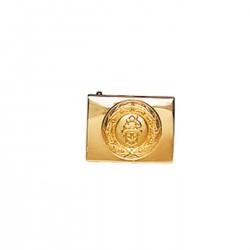 Opasková přezka - sv. Florián, zlatá barva